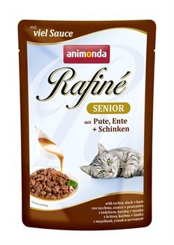 Пауч ANIMONDA Rafin Soup Senior для пожилых кошек с индейкой уткой и ветчиной - фото 11289