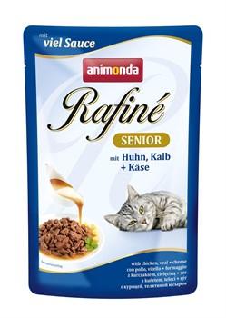 Пауч ANIMONDA Rafin Soup Senior для пожилых кошек с мяса курицей телятиной и сыром - фото 11290