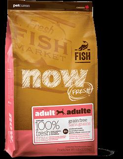 Беззерновой сухой корм NOW Fresh для взрослых собак с чувствительным пищеварением с форелью и лососем Grain Free Fish Adult Recipe - фото 11438
