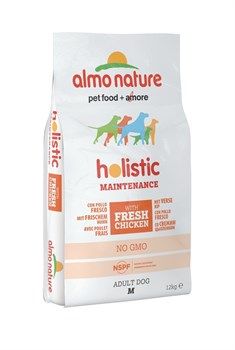 Сухой корм ALMO NATURE Medium Chicken для взрослых собак средних пород с курицей - фото 11494