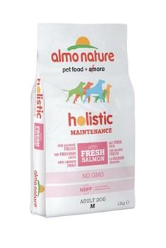 Сухой корм ALMO NATURE Medium Salmon для взрослых собак средних пород с лососем - фото 11495