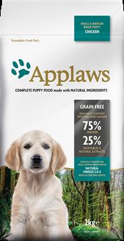 Беззерновой сухой корм APPLAWS Dry Dog Chicken Small/Medium Breed Puppy для щенков малых и средних пород с курицей и овощами - фото 11501