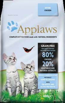 Беззерновой сухой корм APPLAWS для котят с курицей и овощами (Dry Cat Kitten) - фото 11507