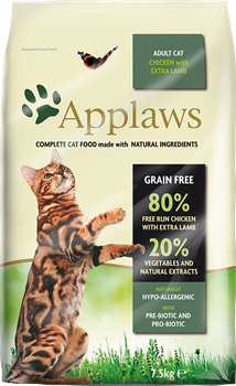 Беззерновой сухой корм APPLAWS для взрослых кошек с курицей, ягненком и овощами (Dry Cat Chicken with Lamb) - фото 11513