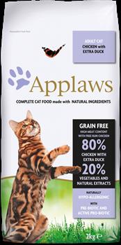 Беззерновой сухой корм APPLAWS для взрослых кошек с курицей, уткой и овощами (Dry Cat Chicken with Duck) - фото 11514