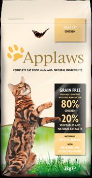 Беззерновой сухой корм APPLAWS для взрослых кошек с курицей и овощами (Dry Cat Chicken) - фото 11516