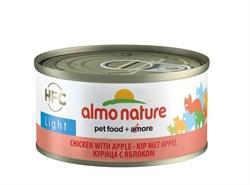 Консервы низкокалорийные ALMO NATURE для взрослых кошек с курицей и яблоком HFC Adult Cat Light Chicken with Apple