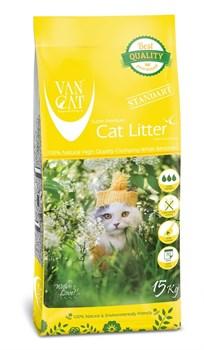 Комкующийся наполнитель VAN CAT для крупных и длинношерстных кошек без пыли Natural Standart