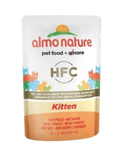 Пауч ALMO NATURE холистик для котят с курицей Classic Cuisine – Kitten - фото 11645