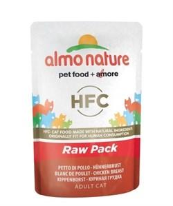 Пауч ALMO NATURE Classic Raw Pack – Chicken Breast для взрослых кошек с куриной грудкой 75% мяса - фото 11650