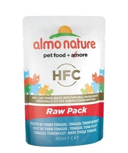 Пауч ALMO NATURE для взрослых кошек с филе тонгольского тунца 75% мяса Classic Raw Pack – Tonggol Tuna Fillet - фото 11657