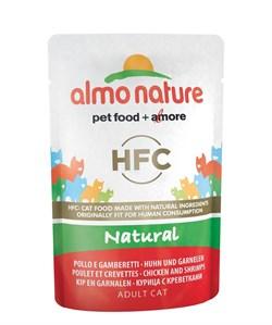 Пауч ALMO NATURE Classic Nature – Chicken/Shrimps для взрослых кошек с курицей и креветками - фото 11667