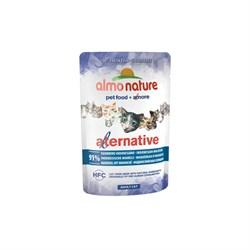 Пауч ALMO NATURE Alternative для взрослых кошек с индонезийской скумбрией 91% мяса (Indonesian Mackerel) - фото 11752