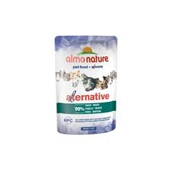 """Пауч ALMO NATURE Alternative – Trout для взрослых кошек """"Форель"""" 90% мяса - фото 11753"""