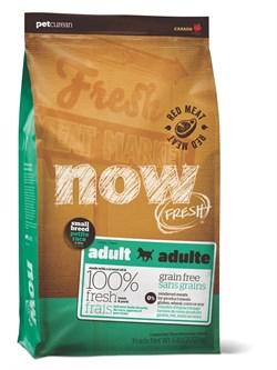 Беззерновой сухой корм NOW Fresh для взрослых собак малых пород со свежим ягненком и овощами Small Breed Recipe Red Meat Grain Free - фото 11796