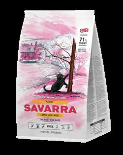 Сухой корм SAVARRA Adult Cat Lamb/Rice для взрослых кошек с ягненком и рисом - фото 11889