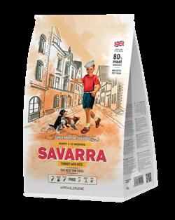 Сухой корм Savarra Puppy Turkey/Rice для щенков всех пород с индейкой и рисом - фото 11892