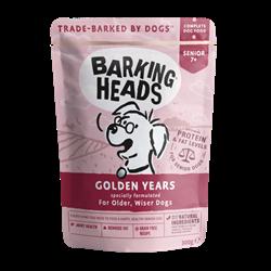 """Пауч BARKING HEADS Golden Years для собак старше 7 лет с курицей и лососем """"Золотые годы"""""""