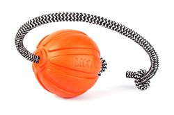 Мячик ЛАЙКЕР Корд на шнуре 9 см - фото 11922