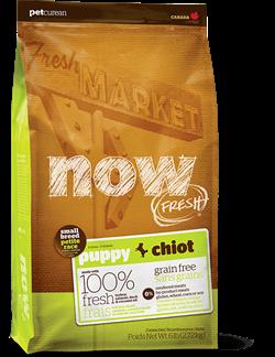Беззерновой сухой корм NOW Fresh для щенков малых пород с индейкой, уткой и овощами Grain Free Small Breed Puppy Recipe - фото 11944