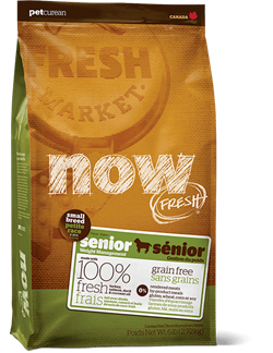 Беззерновой сухой корм NOW Fresh для пожилых собак/контроль веса малых пород с индейкой, уткой и овощами Grain Free Small Breed Senior Recipe - фото 11946