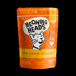"""Пауч BARKING (MEOWING) HEADS Paw Lickin Chicken для котят и кошек с курицей и говядиной """"Куриное наслаждение"""" - фото 11950"""