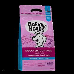 """Беззерновой сухой корм BARKING HEADS DOGGYLICIOUS DUCK для собак малых пород с уткой и бататом """"Восхитительная утка"""" - фото 12044"""
