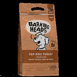 """Беззерновой сухой корм BARKING HEADS TOP Dog TURKEY для собак с индейкой и бататом """"Бесподобная индейка"""" - фото 12053"""