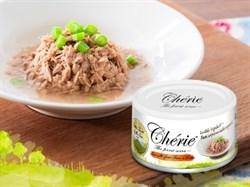 Консервы PETTRIC Cherie для кошек тунец с зеленой фасолью Little Farm by the Sea Tuna with green bean - фото 12093