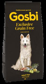 Беззерновой cухой корм GOSBI Exclusive GF для взрослых собак средних пород с рыбой - фото 12117