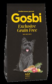 Беззерновой cухой корм GOSBI Exclusive GF для взрослых собак малых пород с лососем и янгенком - фото 12123