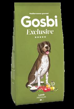 Низкозерновой cухой корм GOSBI Exclusive для взрослых собак средних пород с ягненком - фото 12133