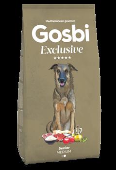 Низкозерновой cухой корм GOSBI Exclusive для пожилых собак средних пород с курицей, ягненком и рыбой - фото 12144