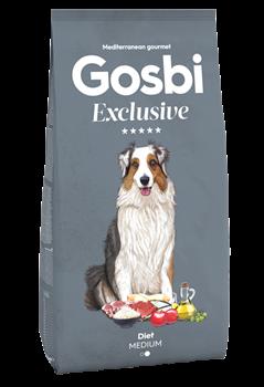 Низкозерновой cухой корм GOSBI Exclusive для взрослых собак средних пород склонных к избыточному весу с курицей, ягненком и рисом - фото 12146