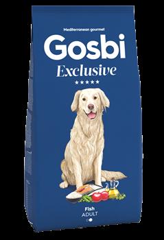 Низкозерновой cухой корм GOSBI Exclusive для взрослых собак средних пород с рыбой - фото 12154