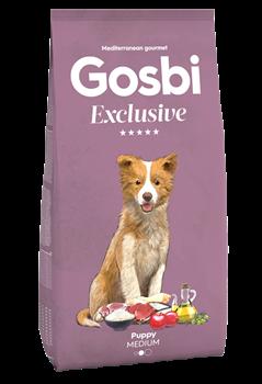 Низкозерновой cухой корм GOSBI Exclusive для щенков средних пород с курицей, рыбой и ягненком - фото 12157