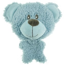 AROMADOG Игрушка для собак BIG HEAD Мишка 12 см голубой - фото 12218