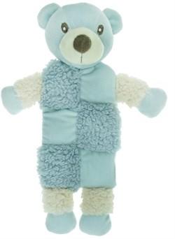 AROMADOG Игрушка для собак Мишка 20 см с 3 пищалками голубой - фото 12221