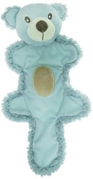 AROMADOG Игрушка для собак Мишка с хвостом 25 см голубой - фото 12223