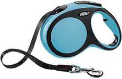 Поводок-рулетка Flexi New Comfort L (до 50 кг) лента 8 м черный/синий - фото 12263