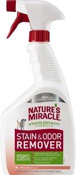 Уничтожитель пятен и запахов от собак 8in1 Nature's Miracle универсальный с ароматом дыни, спрей 946 мл - фото 12793