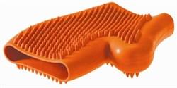 Перчатка для вычесывания шерсти Hunter Smart резиновая - фото 13089