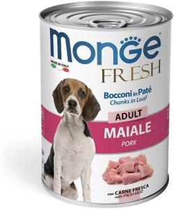 Консервы для собак MONGE Dog Fresh Chunks in Loaf мясной рулет свинина - фото 13721