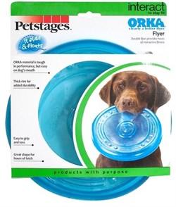 "Игрушка для собак Petstages ""ОРКА летающая тарелка"" 22 см - фото 13737"