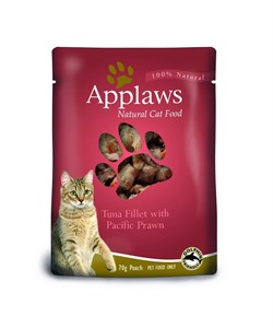 Пауч APPLAWS для взрослых кошек с тунцом и креветками Cat Tuna Pacifc Prawn - фото 13898