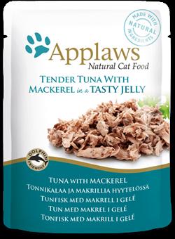 Пауч APPLAWS для взрослых кошек кусочки тунца со скумбрией в желе Tuna wholemeat with mackerel in jelly - фото 13905
