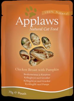 Пауч APPLAWS для взрослых кошек с курицей и тыквой Cat Chicken Pumpkin - фото 13907