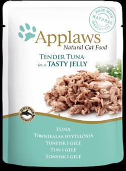 Пауч APPLAWS для взрослых кошек кусочки тунца в желе Tuna wholemeat in jelly - фото 13908