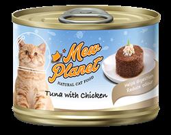 Консервы MEW PLANET для взрослых кошек паштет из тунца с курицей - фото 13924