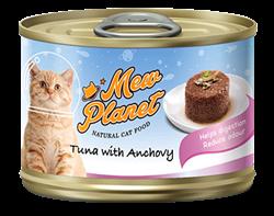 Консервы MEW PLANET для взрослых кошек паштет из тунца с анчоусами - фото 13925